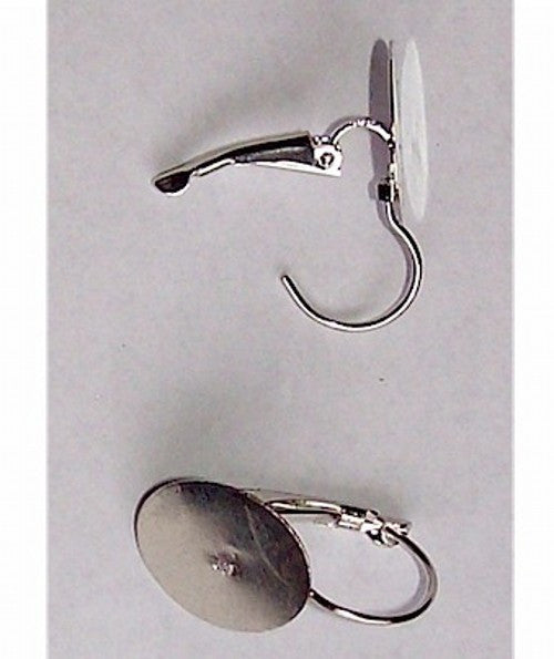 Silver Lever Back Earrings 15mm Pad sold by the pair Earring Finding 498x