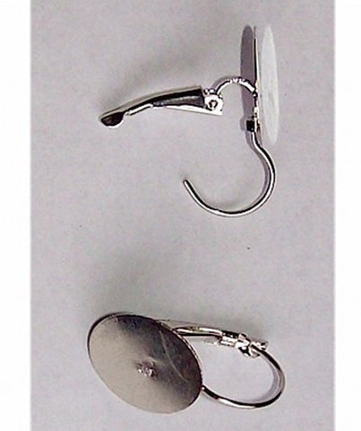 Silver Lever Back Earrings with 15mm Pad sold by the pair Item#498x