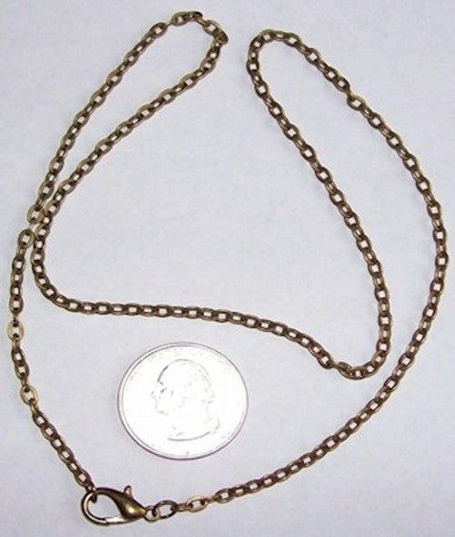 Antique Bronze 20 inch Necklace Cable Chain  4x2.5mm 502x