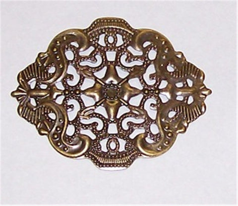 Antique Bronze 44x34mm Filigree  511x