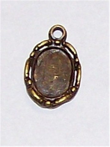 10x8mm Antique Bronze Cameo Setting with Ring 513x