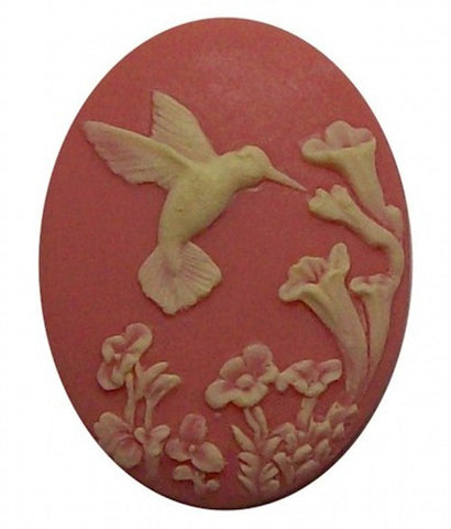 Pink Hummingbird Resin Cameo 40x30 524x