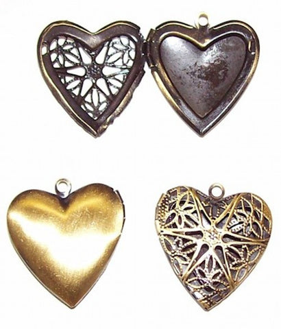 Antique Bronze Filigree Heart Perfume Locket Scent Locket 528x