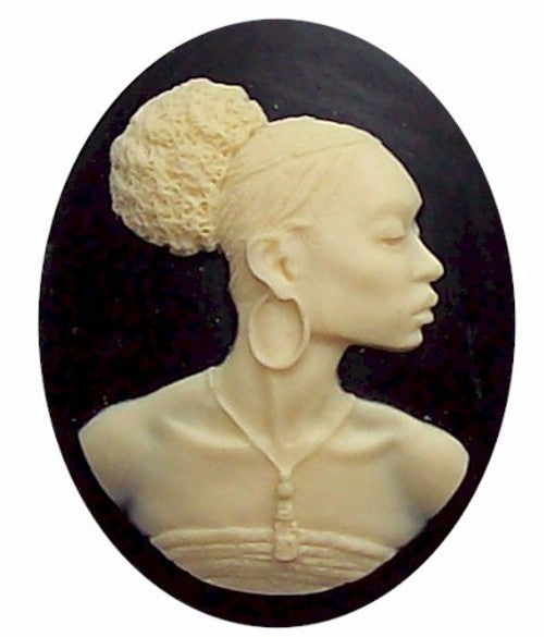 40x30mm Silhouette Cameo Africa Supply African American Cameo Jewelry Afro Ethnic Black Jewelry 547x