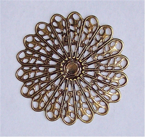 Antique Bronze Round Filigree 45mm 572x