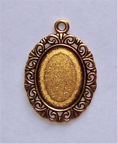 Antique Gold 18x13 Cabochon Setting with Ring 576x
