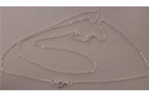 Silver 28 inch Necklace Chain 1mm with Spring Ring 628x