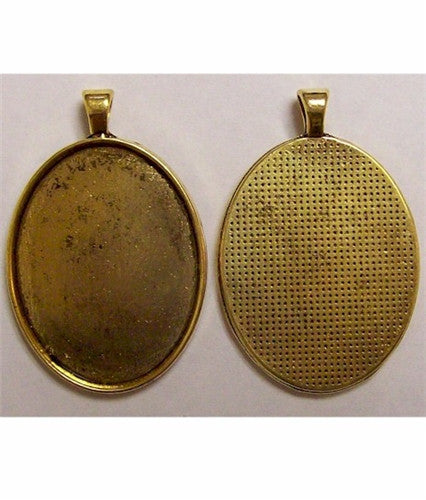 Antique Gold 40x30 Pendant Setting with Bail 631x