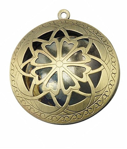 Round Antique Bronze Aromatherpy Locket Diffuser Locket 643x