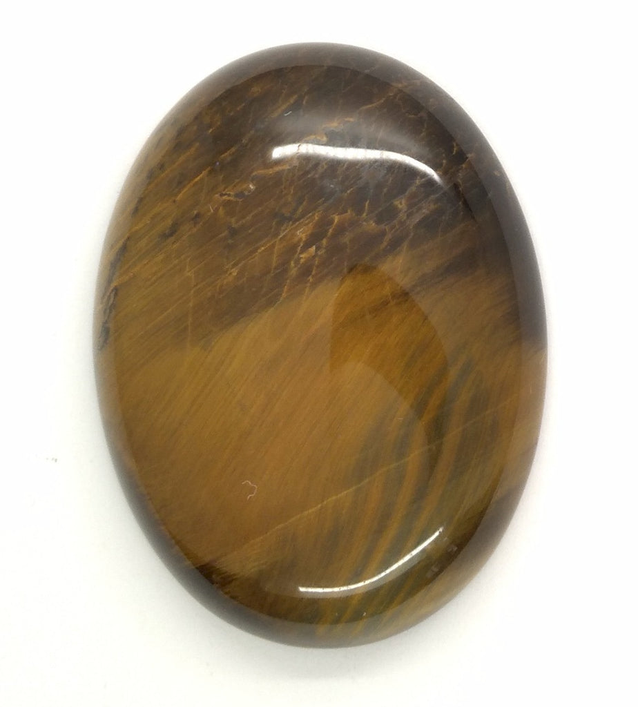 40x30mm Flat Backed Tiger Eye Oval Stone Cabochon 652xC