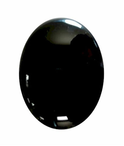 25x18mm Black Onyx Flat Back Semiprecious Gemstone Cabochon 671x