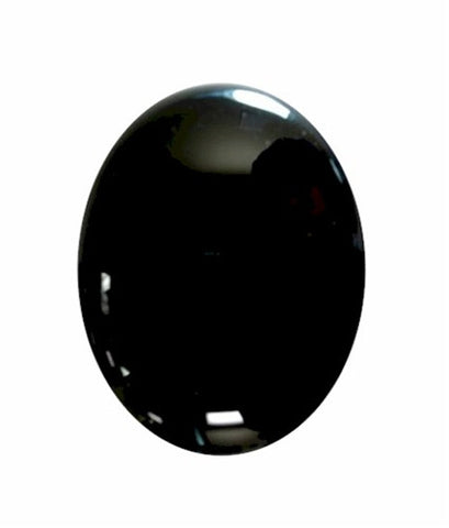 18x13mm Black Onyx Flat Back Cabochon 672x