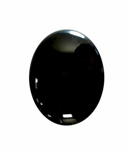 10x8mm Black Onyx Flat Back Cabochon 673x