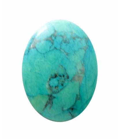 18x13mm Dyed Howlite Chinese Turquoise Cabochon 679x
