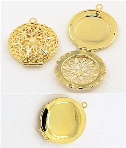 Gold Filigree Perfume Aromatherapy Scent Locket 27mm 749x