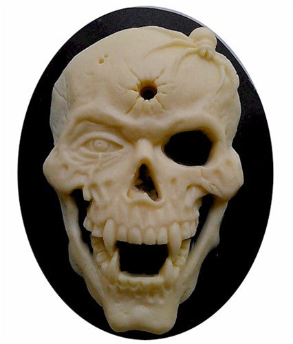 40x30mm Scary Skull Skeleton Cameo zombie cameo  822x