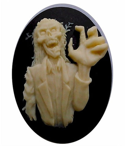 40x30mm Zombie Cameo Monster Skull Walking Dead skeleton gothic 826x