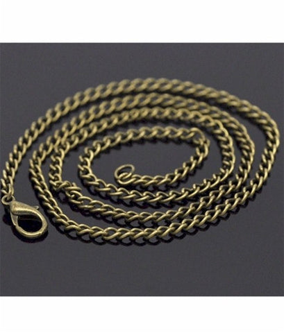 20 inch Antique Bronze Curb Chain Necklace 3.5x2.6mm  832x