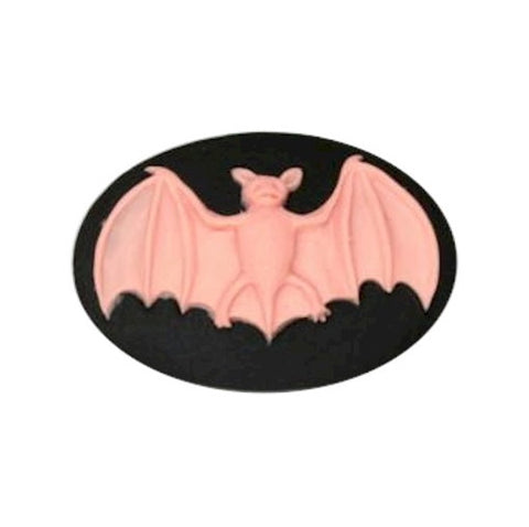25x18mm Pink and Black Bat Resin Cameo 846x