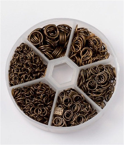 Mixed Jump Rings 1600pcs  Antique Bronze Size 4mm-10mm 920x