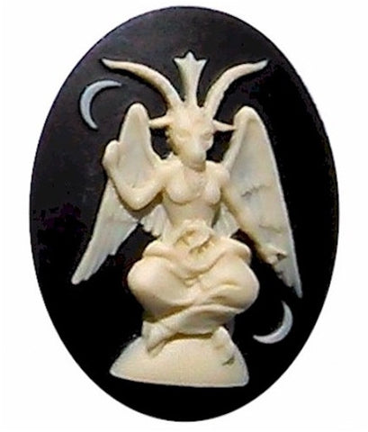 40x30mm Baphomet Occult Mystical Idol Embellishment Resin Cameo 933x
