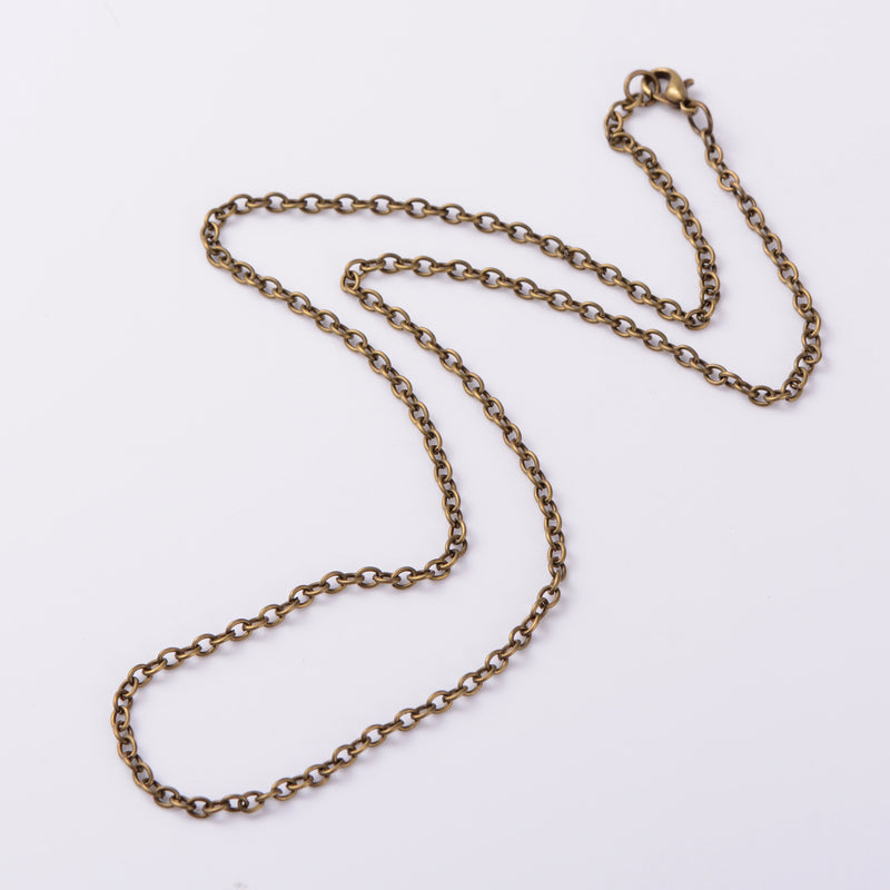 25 inch Necklace Antique Bronze Cable Chain Jewelry Links 4x3mm 976x