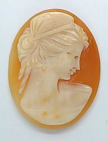 35x27mm Italian Real Shell Cameo unmounted loose Genuine Hand Carved Cameo C100