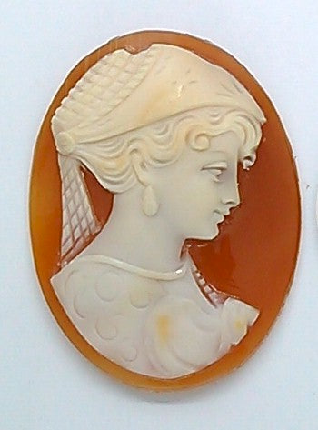35x27mm Signed Italian Real Shell Cameo unmounted loose Genuine Hand Carved Cameo C105