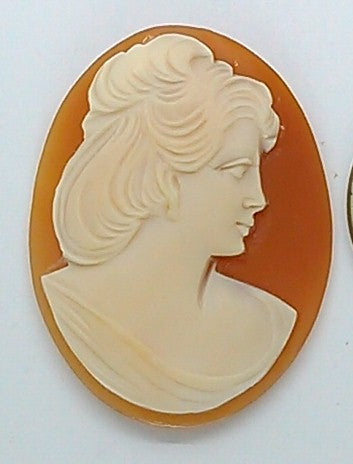 35x27mm Italian Real Shell Cameo unmounted loose Genuine Hand Carved Cameo C108