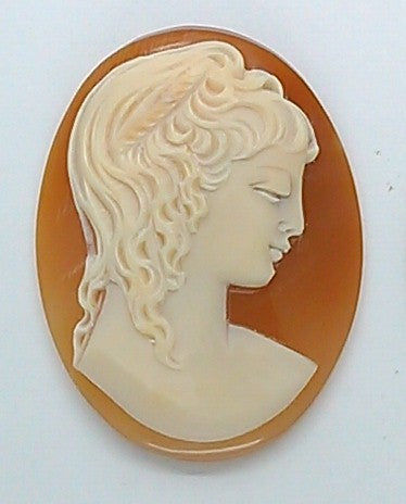 35x27mm  Italian Real Shell Cameo unmounted loose Genuine Hand Carved Cameo C110