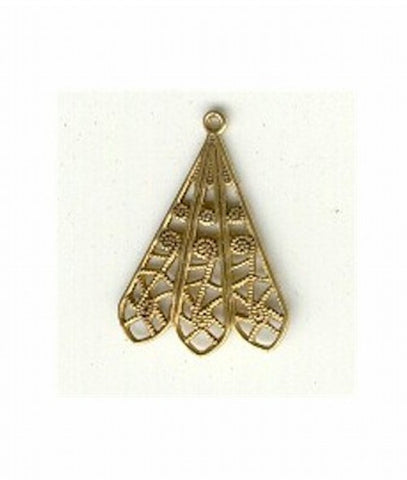 Item#G06420 24mm brass filigree drop