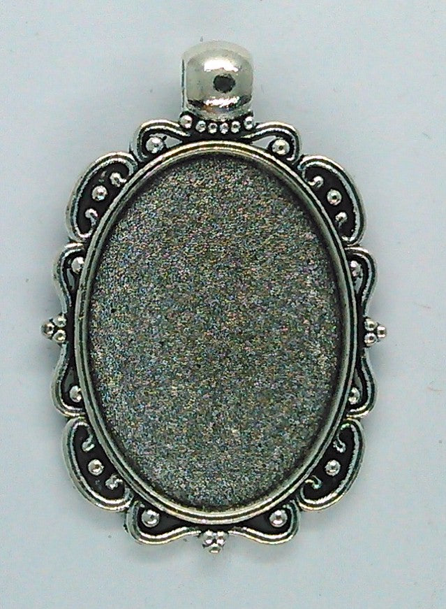 25x18mm Antique Silver Pendant Setting with built in bail S2190