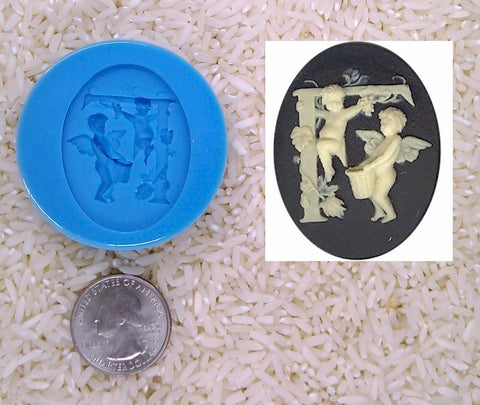 Food Safe Silicone Cameo Mold The LETTER F of the alphabet for candy soap clay resin wax etc.