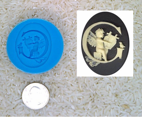 Food Safe Silicone Cameo Mold The LETTER G of the alphabet for candy soap clay resin wax etc.