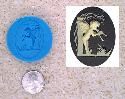 Food Safe Silicone Cameo Mold The LETTER L of the alphabet for candy soap clay resin wax etc.
