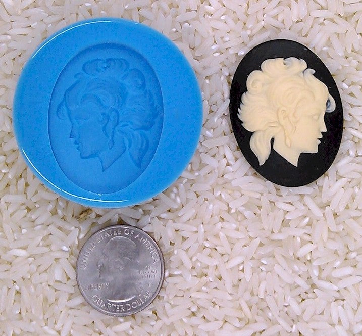 Astrology Zodiac Sign Virgo Goddess Food Safe Silicone Cameo Mold for candy soap clay resin wax etc.