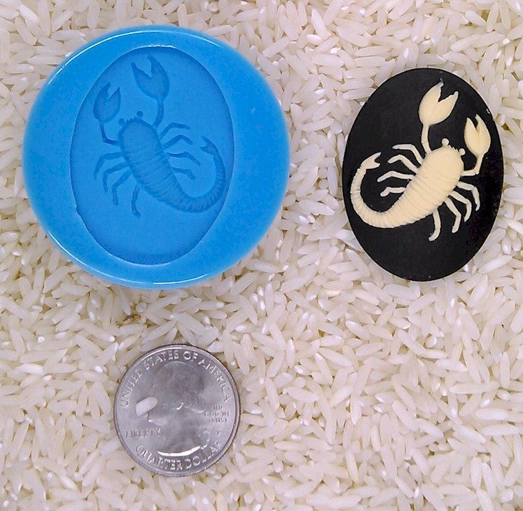 Astrology Zodiac Sign Scorpio Scorpian Food Safe Silicone Cameo Mold for candy soap clay resin wax etc.
