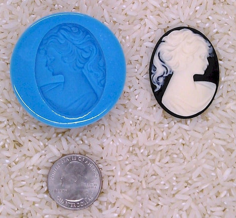 Classic Victorian Woman Food Safe Silicone Cameo Mold for candy soap clay resin wax etc.