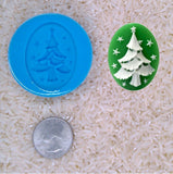 Christmas Tree Holiday Theme xmas spirit Food Safe Silicone Cameo Mold for candy soap clay resin wax etc.