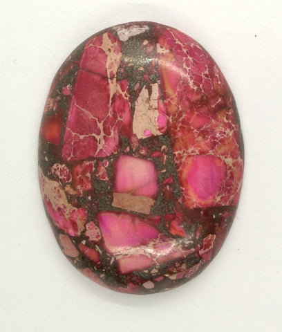 40x30mm Red Pink Matrix Collage Stones Single piece you are buying this stone S2154B