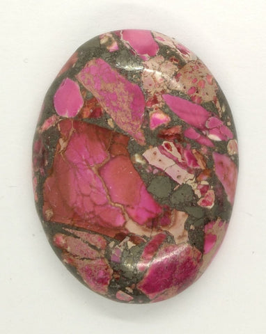 40x30mm Red Pink Matrix Collage Stones Single piece you are buying this stone S2154C