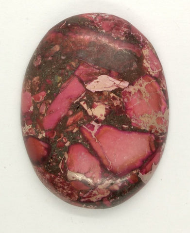 40x30mm Red Pink Matrix Collage Stones Single piece you are buying this stone S2154D