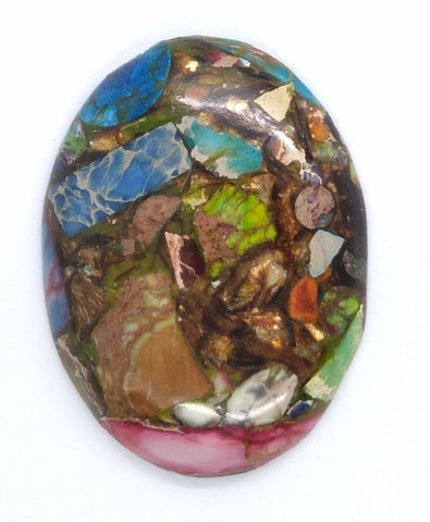 40x30mm Rainbow Matrix Collage Stones Single piece you are buying this stone S2155A