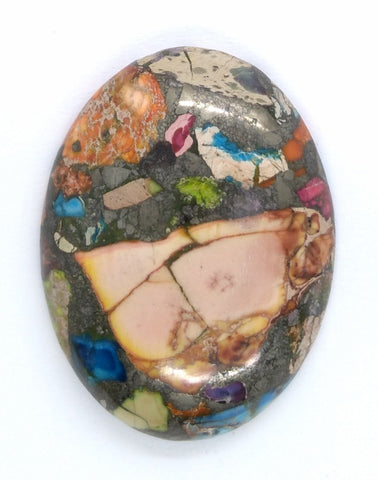 40x30mm Rainbow Matrix Collage Stones Single piece you are buying this stone S2155C