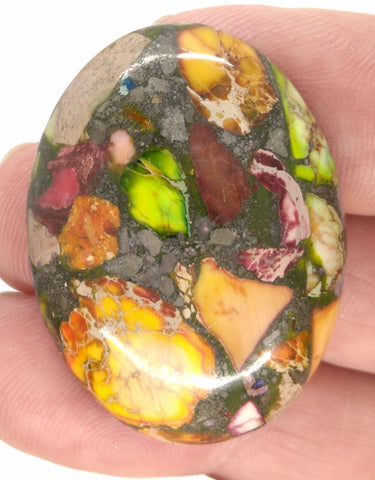 40x30mm Rainbow Matrix Collage Stones Single piece you are buying this stone S2155F