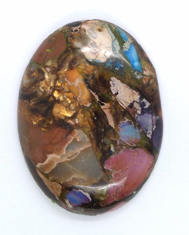 40x30mm Rainbow Matrix Collage Stones Single piece you are buying this stone S2155G