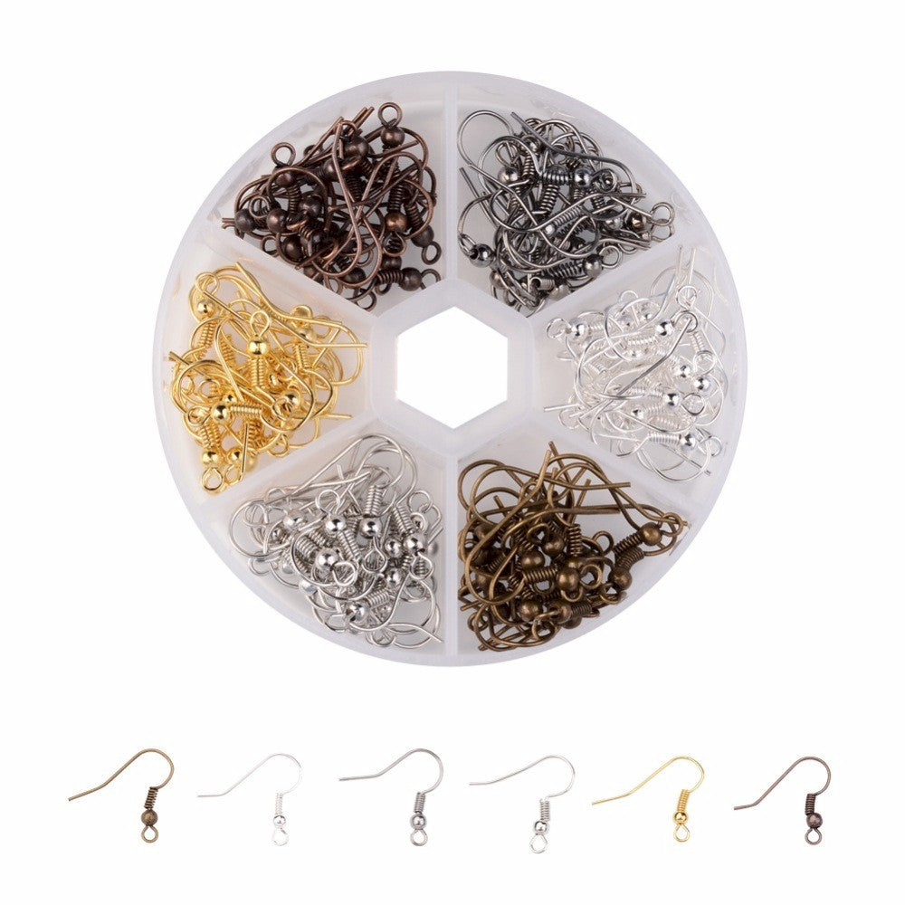 Box of 120pcs mixed Ear Wires earring fish hooks Nickel Free  6 color 18mm tall S2230
