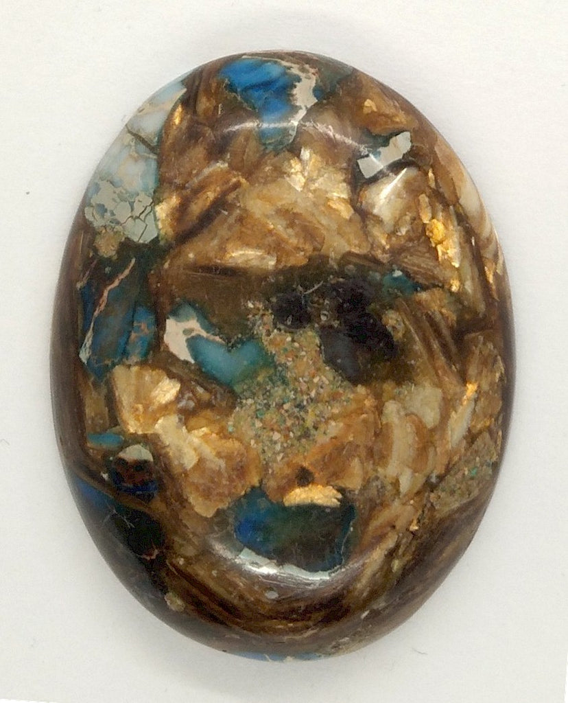 40x30mm Deep Blue Copper Matrix Collage Stone Oval Loose Cabachon Cab  S4000B