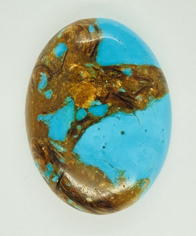 40x30mm Deep Turquoise Copper Matrix Collage Stone Oval Loose Cabachon Cab  S4007B