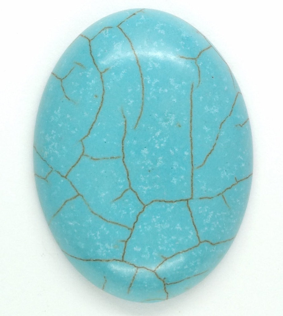 40x30mm Imitation Turquoise Robins egg blue -  sky blue cabochon S4028